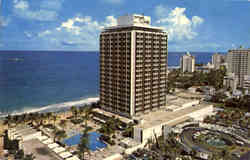 The Sheraton Hotel with the Sunny Caribbean Sea in the background Postcard