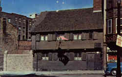 The Paul Revere House in North Square Postcard