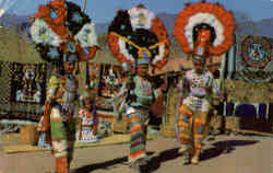 Indian feather dancers