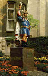 Statue of the good King Gambrinus