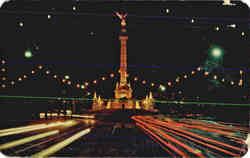 Columna de la Independencia, vista de noche Night view of the Monument to Independence Postcard