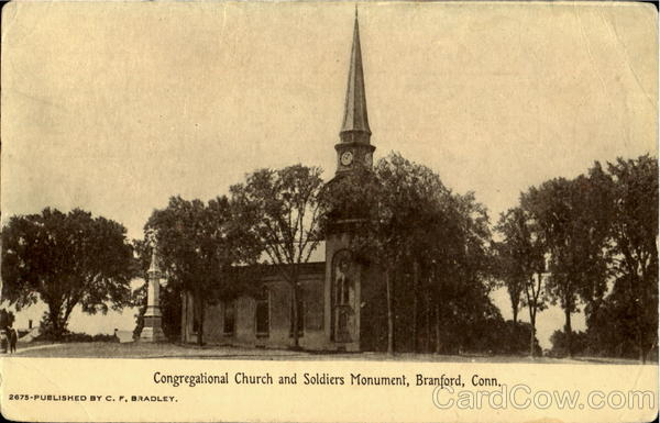 Congragational Church and Soldiers Monument Branford Connecticut