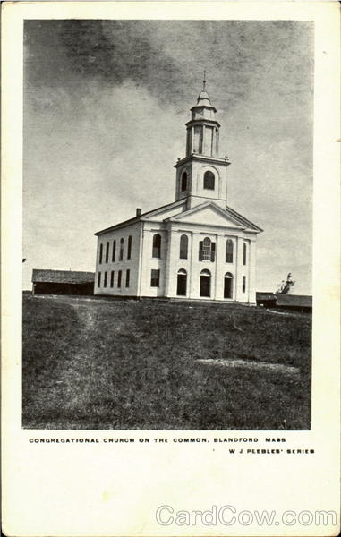 Congregational Church On The Common Blandford Massachusetts