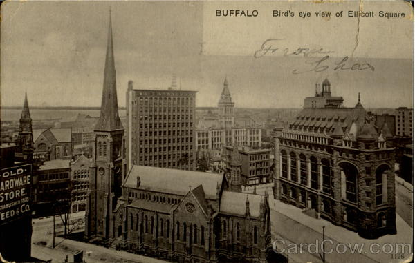 Bird'S Eye View Of Ellicot Square Buffalo New York