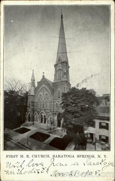 First M. E. Church Saratoga Springs New York
