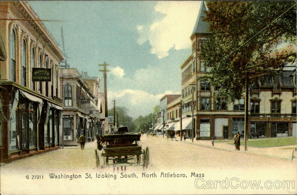 Washington St, Looking South North Attleboro Massachusetts