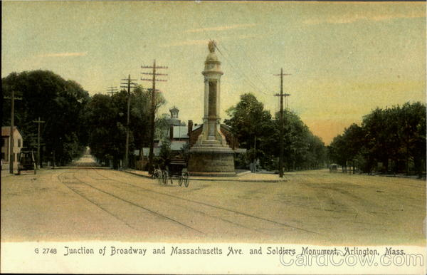 Junction Of Broadway And Massachusetts Ave. And Soldiers Monument Arlington