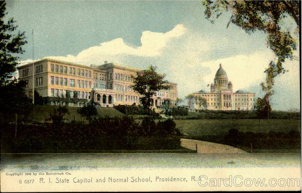 State Capitol and Normal School Providence Rhode Island