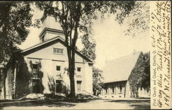 First Church and Chapel Postcard