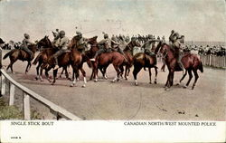 Single Stick Bout - Canadian North-West Mounted Police