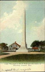 Monument To W. H. Mack And Life Savers Of Monomoy Postcard