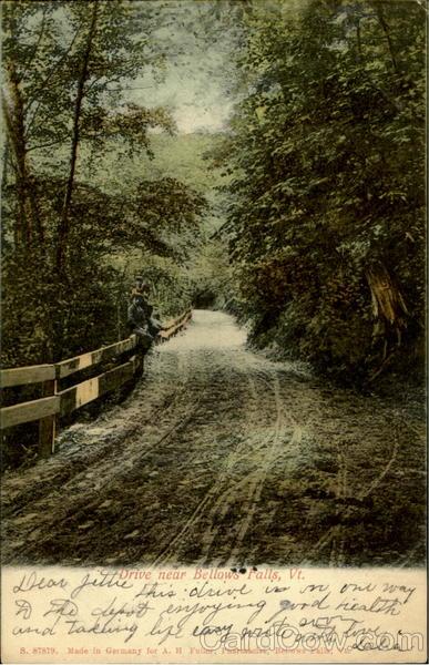 Drive Near Bellows Falls Vermont