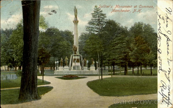 Soldier'S Monument At Common Manchester New Hampshire