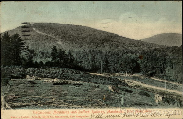 Uncanoonuc Mountains And Incined Railway Manchester New Hampshire
