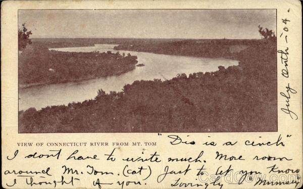 View of Connecticut River from Mt. Tom Holyoke Massachusetts