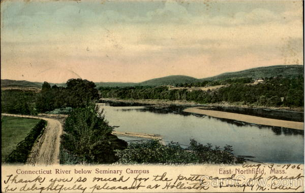 Connecticut River below Seminery Campus East Northfield Massachusetts