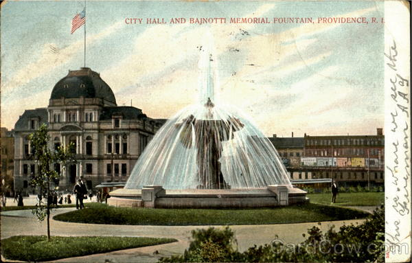 City Hall Bajnotti Memorial Fountain Providence Rhode Island