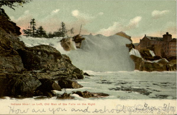 Indians Heart on Left, Old Man of the Falls on the Right Auburn Maine