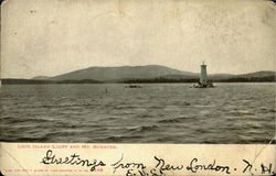 Loon Island Light And Mt.Sunapee