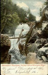 Adirondack Mountains,The High Falls At Wilmington Notch.