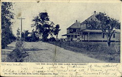 On The Road To The Lake, Monponsett Postcard