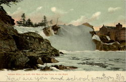 Indians Heart on Left, Old Man of the Falls on the Right