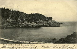 Beach at Mark Island Postcard