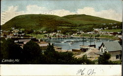 View of Camden Harbor Postcard