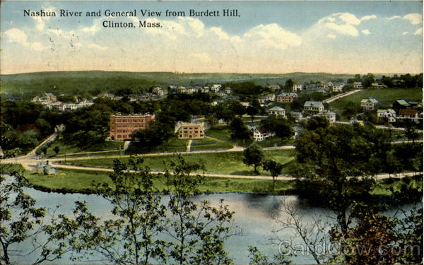 Nashua River and General View from Burdett Hill Clinton Massachusetts
