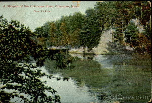 A Glimpse of the Chicopee River Massachusetts