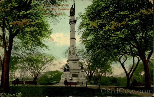 Soldier And Sailors' Monument, The Common Boston Massachusetts