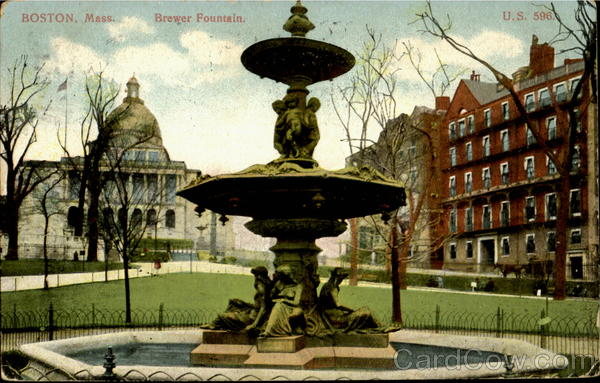 Brewer Fountain Boston Massachusetts