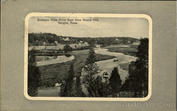 Birdseye View River East from Round Hill Saugus Massachusetts