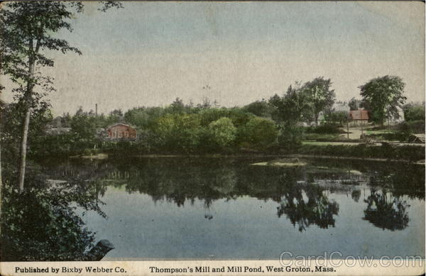 Thompson'S Mill And Mill Pond West Groton Massachusetts