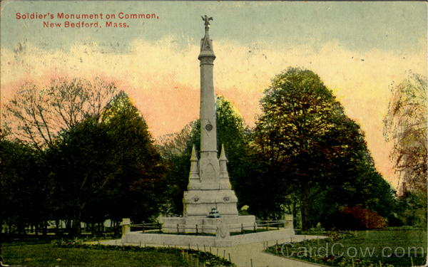 Soldier'S Monument On Common New Bedford Massachusetts