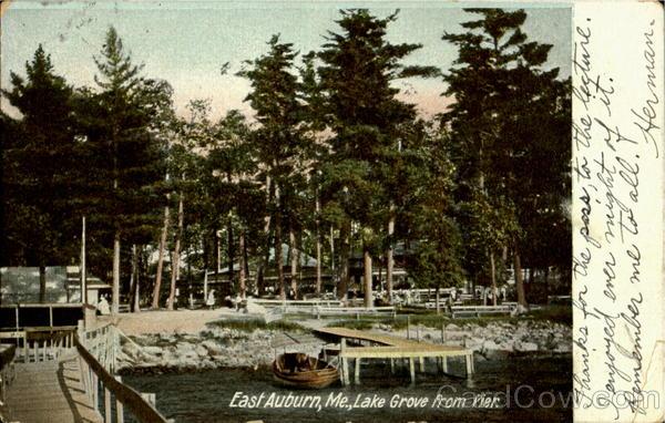 Lake Grove From Pier East Auburn Maine