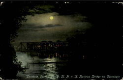 N.Y.,N.H.& H. Railway Bridge By Moonlight