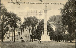 Soldiers' Monument And Congregational Church