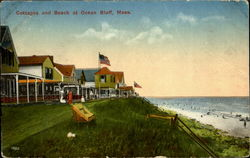 Cottages and Beach at Ocean Bluff