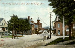View looking down from North Main St. Postcard