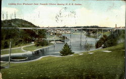 Looking From Wachusett Dam Towards Clinton Showing N.R.R. Station
