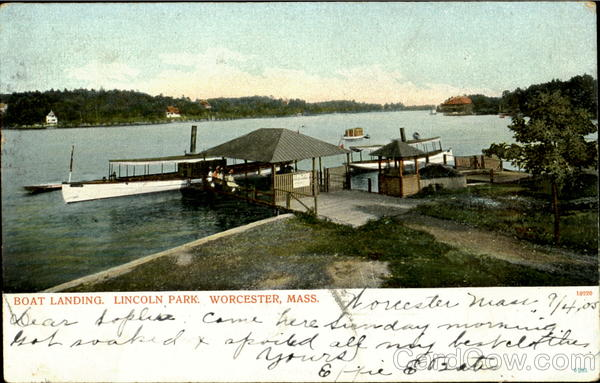 Boat Landing, Lincoln Park Worchester Massachusetts