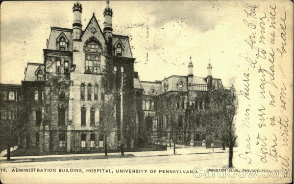 Administration Building,Hospital, University Of Pennsylvania Philadelphia