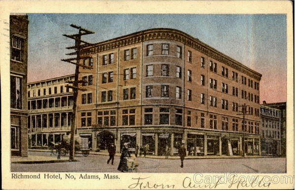 Richmond Hotel No. Adams Massachusetts