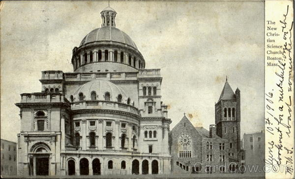The New Christian Science Church Boston Massachusetts