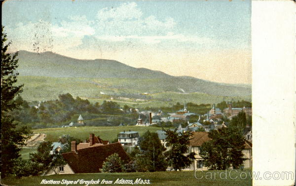 Northern Slope Of Greylock From Adams Massachusetts