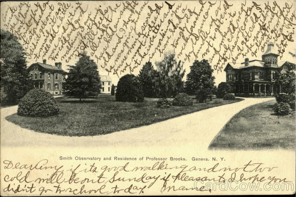 Smith Observetory and Residence of Proffesor Brooks Geneva New York