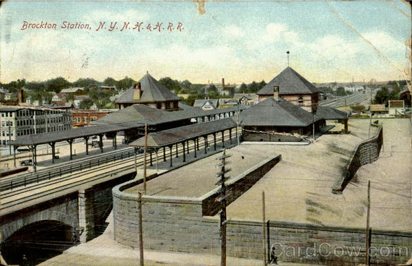 Brockton Station N.Y.N.H. & H.R.R Massachusetts