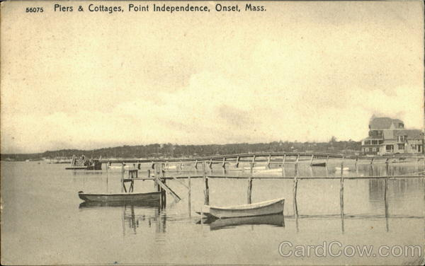 Piers & Cottages, Point Independence Onset Massachusetts