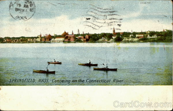 Canoeing On The Connecticut River Springfield Massachusetts